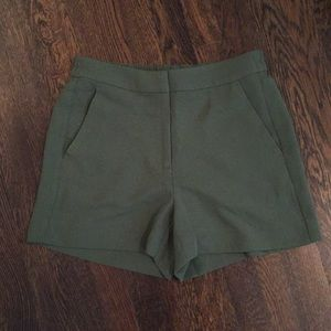 J crew factory easy shorts olive green Sz 4